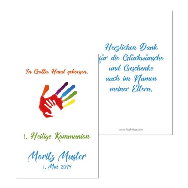 """Geschenkanhänger Gastgeschenk """"Gottes Hand"""" Erstkommunion"""