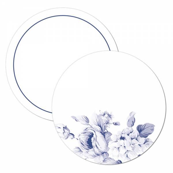 Geschenkanhänger Tischkarte Wunderkerzenanstecker mit blauen Blüten zur Hochzeit