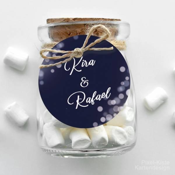 Anhänger für Hochzeitseinladung Giveaway Gastgeschenk Nightblue