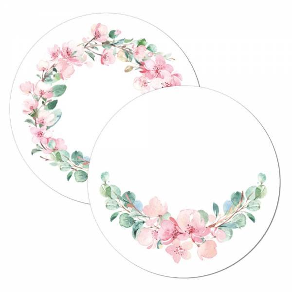 traumhafte Geschenkanhänger Tischkarte Wunderkerzenanstecker Kirschblüte Eukalyptus Hochzeit