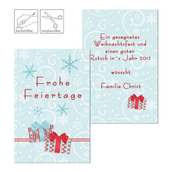 personalisierte Geschenkkarten Geschenkanhänger für Weihnachten drucken