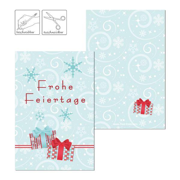Geschenkkarten Geschenkanhänger für Weihnachtsgeschenke drucken lassen