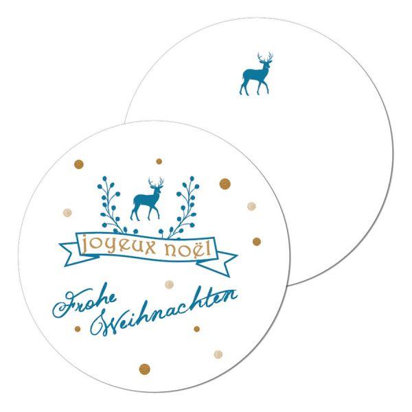 """Geschenkkarten Geschenkanhänger """"Joyeux Noel"""""""