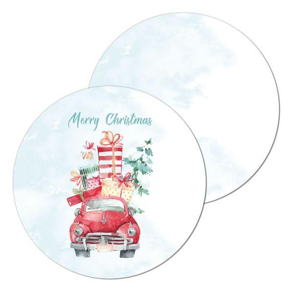 Geschenkanhänger Weihnachten Christmastruck watercolor online kaufen