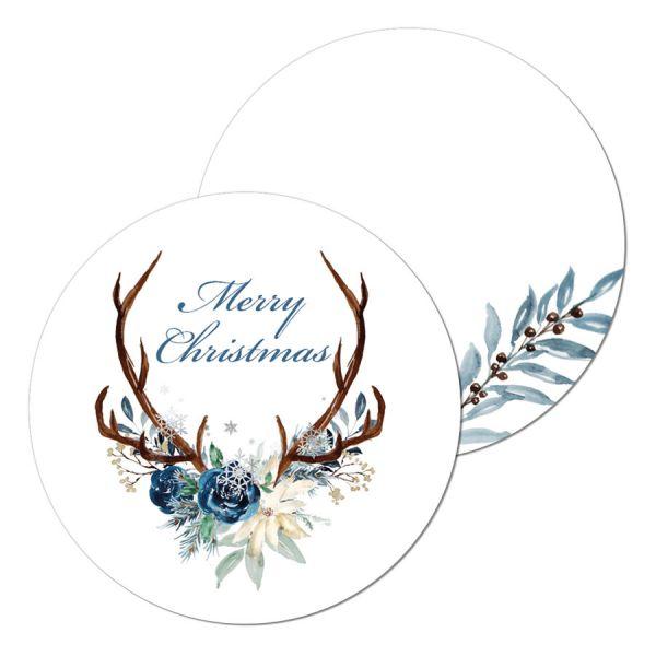 runde Geschenkanhänger /Caketopper Weihnachten Hirschgeweih online kaufen
