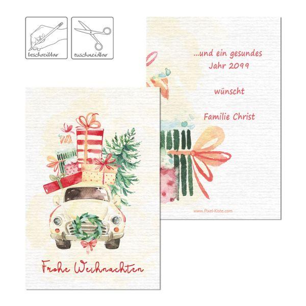 personalisierte Geschenkanhänger Weihnachten Watercolor online bestellen