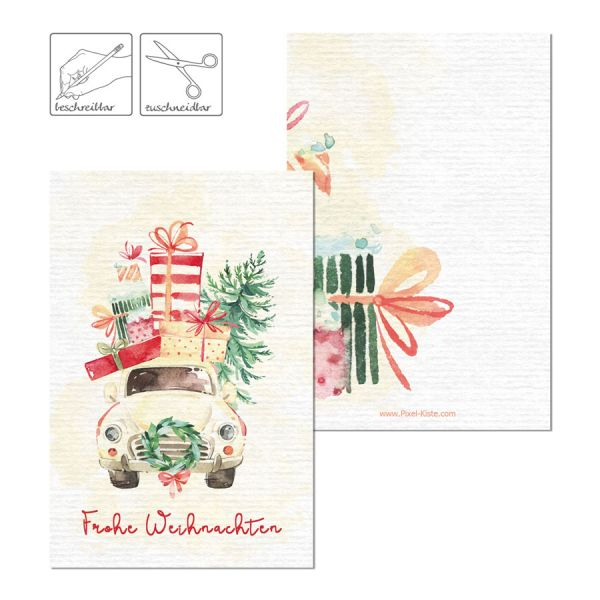 Geschenkanhänger Weihnachten Watercolor online bestellen