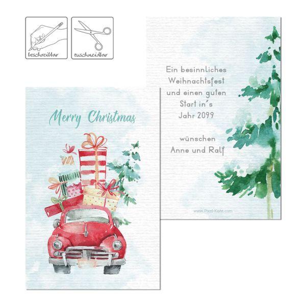 weihnachtliche Geschenkkarten Geschenkanhänger personalisiert drucken