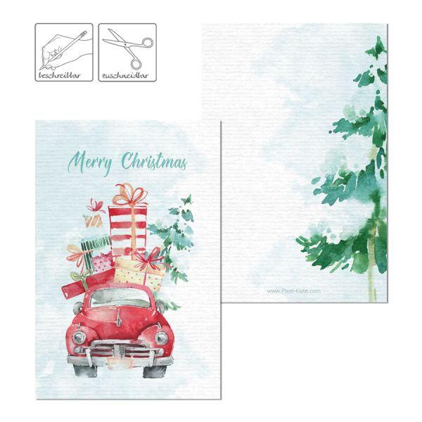 weihnachtliche Geschenkkarten Geschenkanhänger mit Christmastruck drucken