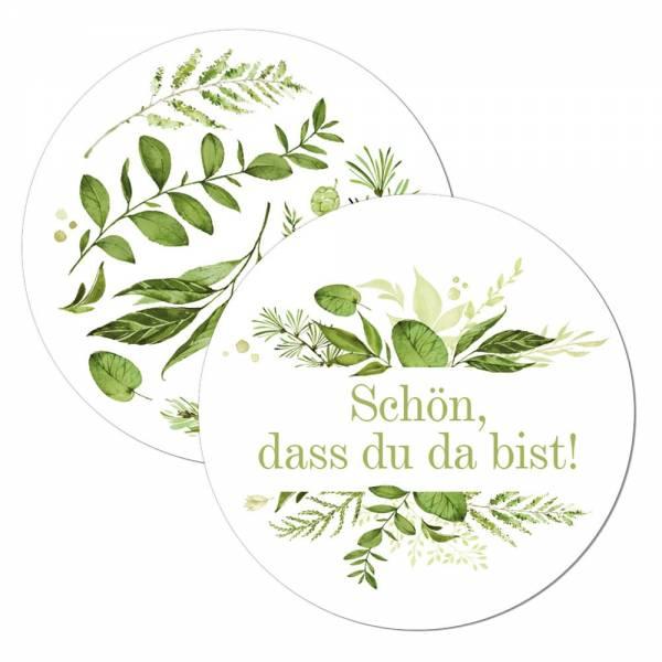 edle Geschenkanhänger Greenery Wedding für Gastgeschenke