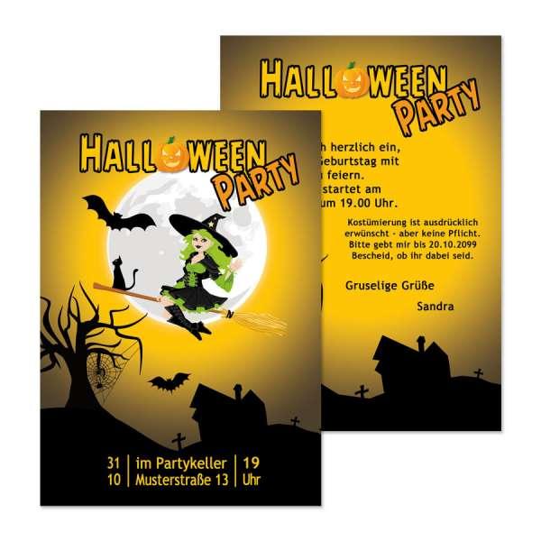 Einladung Partyflyer Halloween