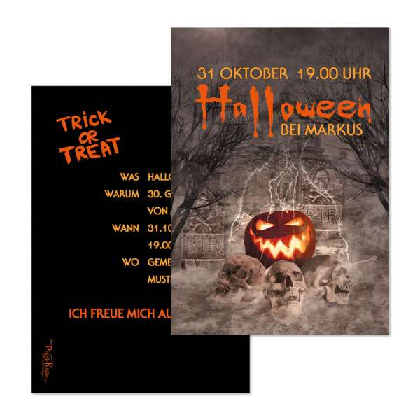 Halloween-Party Partyflyer Einladungen