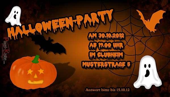 """einladungskarten """"halloween-party"""""""