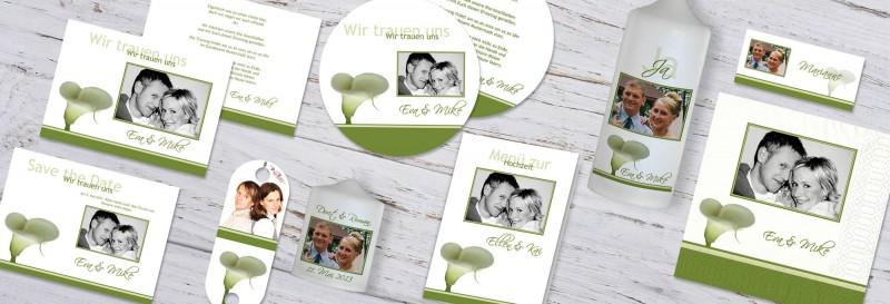 Hochzeitspapeterie Mette & Haakon