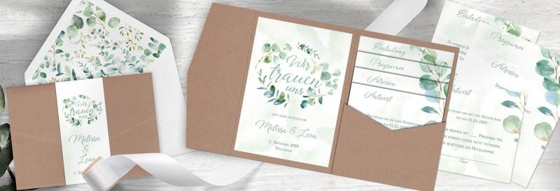 "Hochzeitspapeterie Eukalyptus ""Melissa & Leon"""