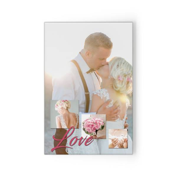 Hochzeitscollage auf Fotoleinwand