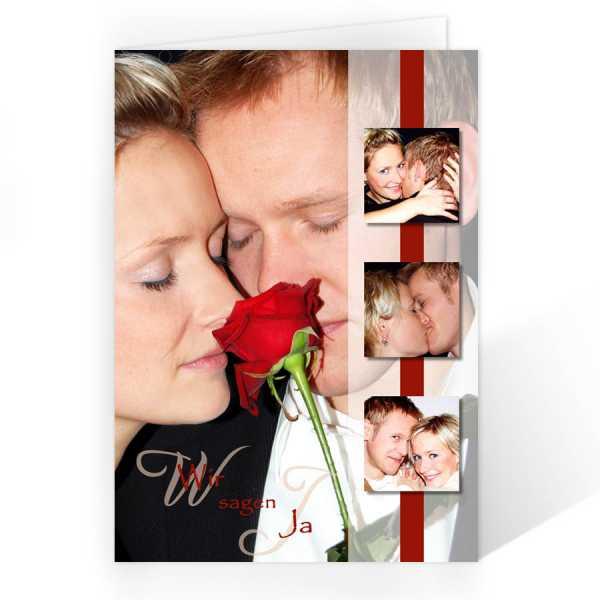 Einladungskarte zur Hochzeit oder Verpartnerung