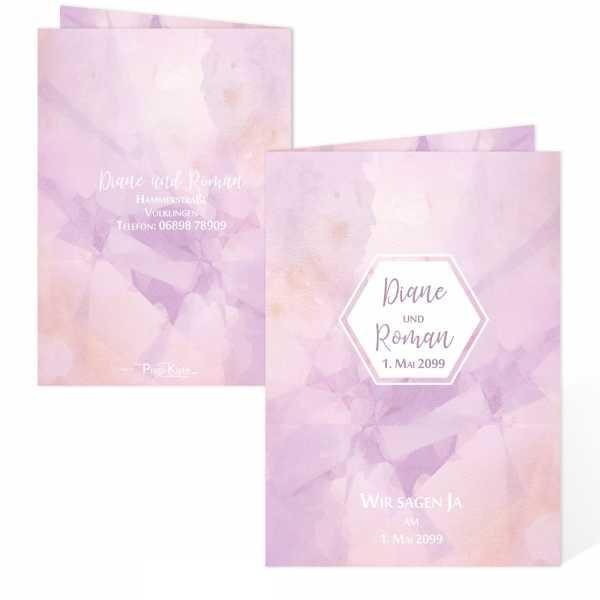 """Hochzeitseinladungen Aquarell-Peach """"Diane & Roman"""""""