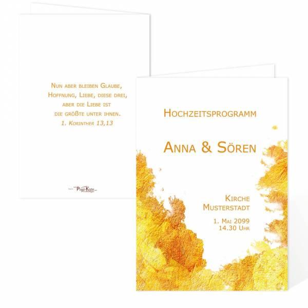 Hochzeitsprogrammheft für die Trauung online bestellen