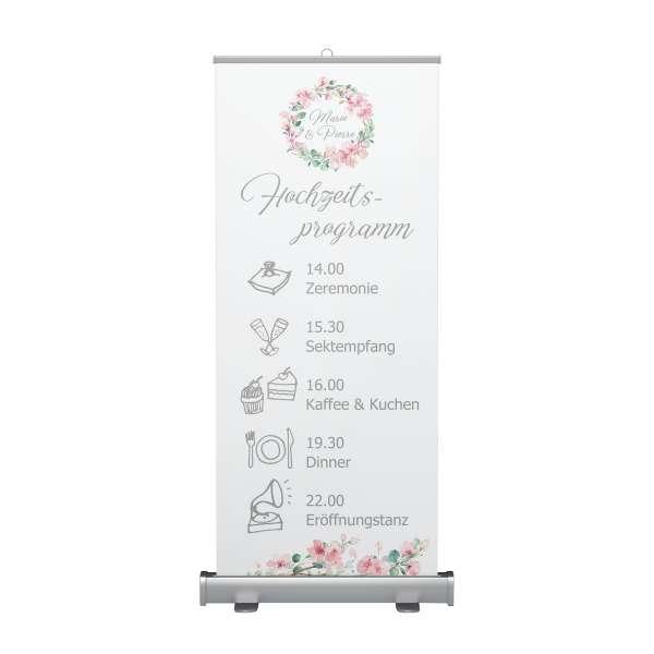 Hochzeitsprogramm Tagesablauf Rollup Kirschblüten Eukalytus
