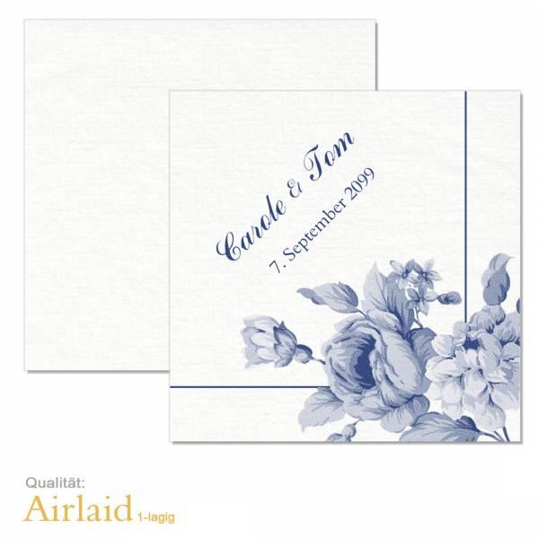 Airlaid-Servietten zur Hochzeit individuell bedruckt Indianblue