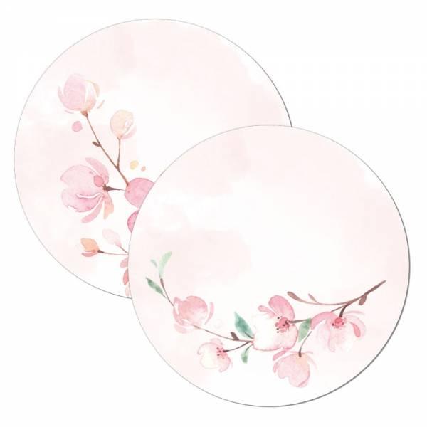 Kirschblüten Geschenkanhänger Tischkarte Wunderkerzenanstecker für die Hochzeit