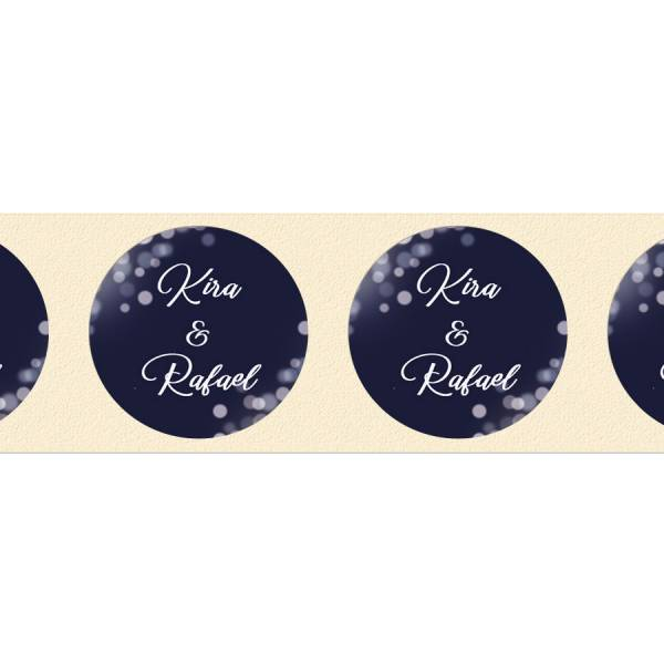 Klebeetiketten für Gastgeschenke zur Hochzeit drucken lassen