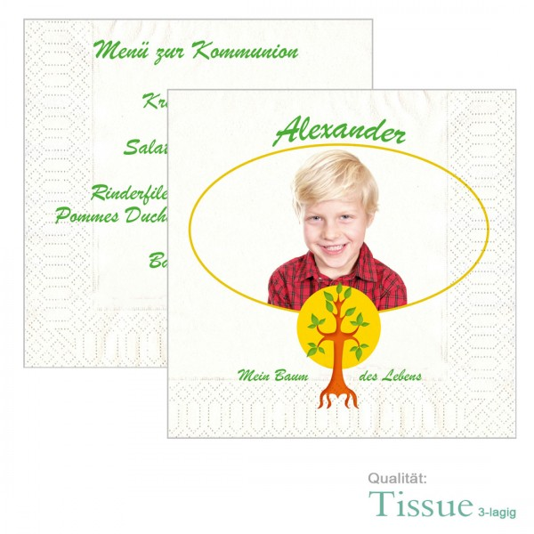Servietten Kommunion Baum des Lebens Lebensbaum
