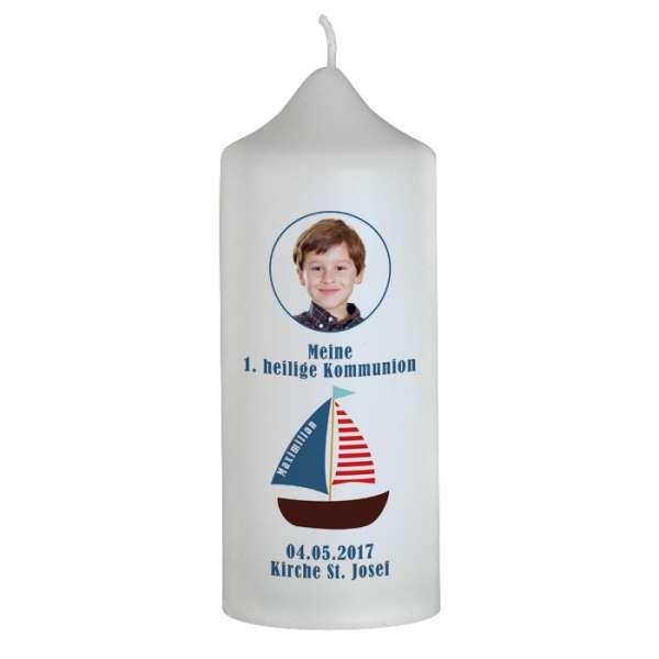 Kommunionkerze mit Boot