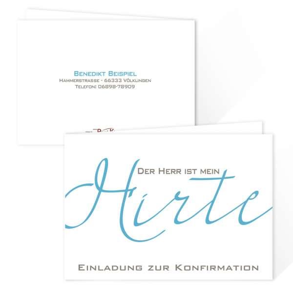 konfirmation-einladungskarten-der-herr-ist-mein-hirte-216A