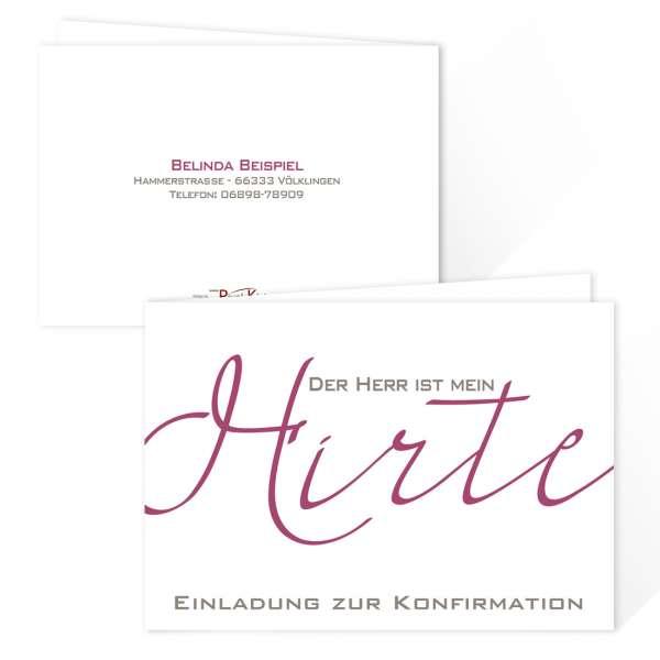 """Einladungskarten """"Der Herr ist mein Hirte"""" Konfirmation Kommunion"""