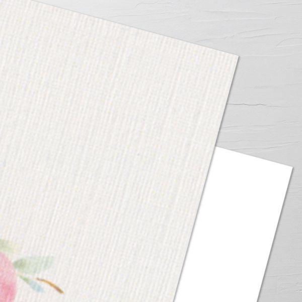 Papier mit Leinenstruktur 270 g/m2 (Aufpreis je Karte)