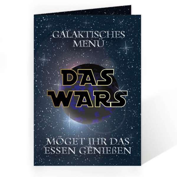 "Menükarte ""Das wars"" Galaxie Weltall"