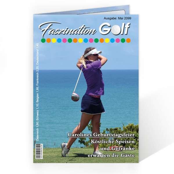 Menükarten Getränkekarten Golf-Zeitschrift Geburtstag