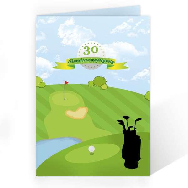 Menükarten Getränkekarten Golf Geburtstag