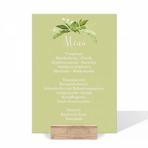 Menükarten zur Hochzeit Greenery Wedding online bestellen