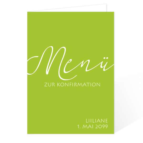 """Menükarten zur Kommunion Konfirmation """"elegant"""" gestalten lassen"""