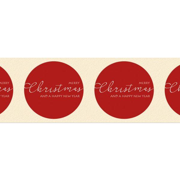 edle Geschenkaufkleber für Weihnachtspräsente online drucken lassen