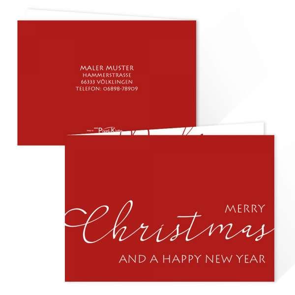 moderne Weihnachtskarten für Selbständige, Unternehmen, Firmen günstig drucken lassen