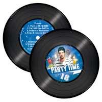Party Einladungskarten Schallplatte Einladungskarten rund