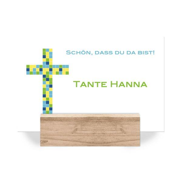 Platzkarten Konfirmation Kommunion Mosaik Kreuz