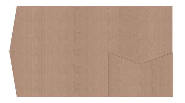 Pocketfold Umschlag Kraftkarton 13x18,5 cm