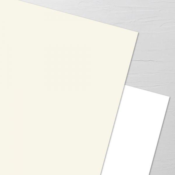 Premiumpapier gelblichweiß/creme (Aufpreis je Karte)