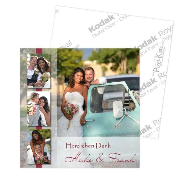 Danksagungskarte Hochzeit quadratisch