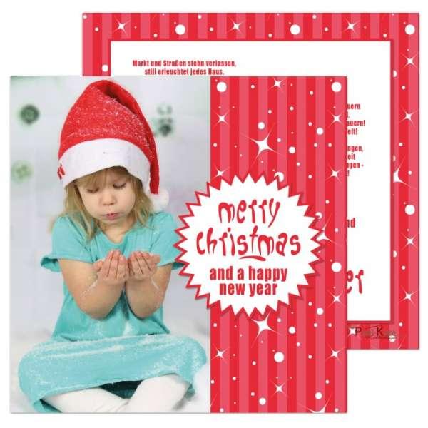quadratische Weihnachtskarten rot weiß