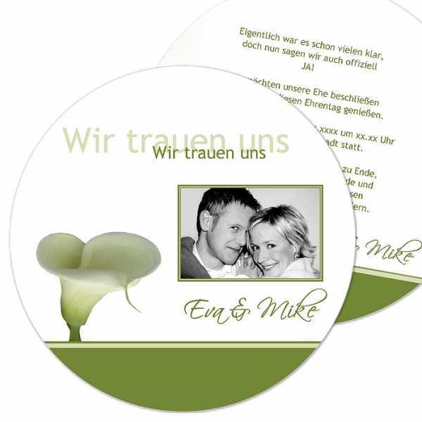 runde Hochzeitseinladung
