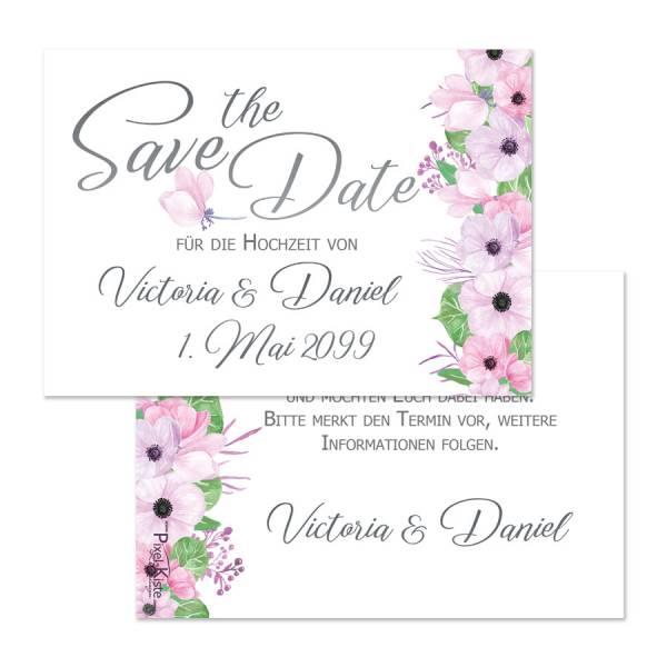 Save-the-Date-Karten zur Hochzeit Boho Blüten