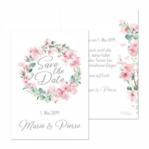 Save-the-Date Karten zur Hochzeit «Marie & Pierre»