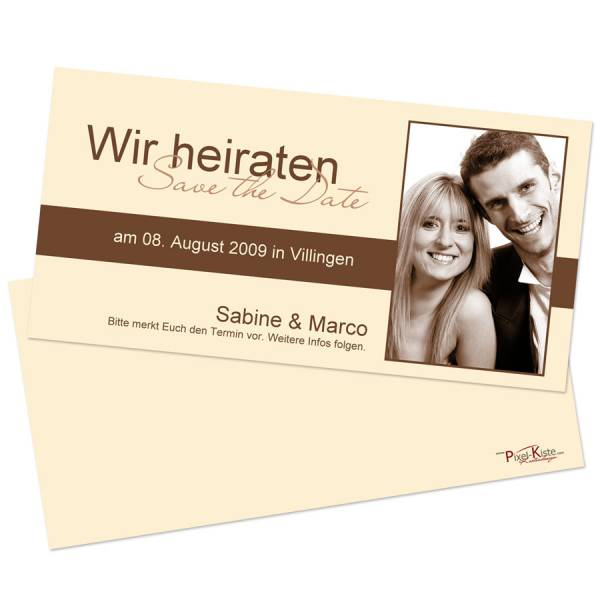 Save-the-Date Karten mit Foto