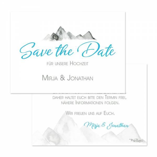 Save the Date für die Hochzeit in den Bergen ? drucken lassen